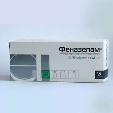 Phenazepam 2.5mg 50 pills buy Tranquilizer (anxiolytic) online