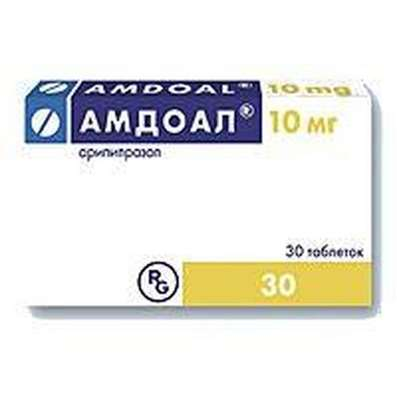 Amdoal 10mg 30 pills buy Aripiprazole neuroleptic online