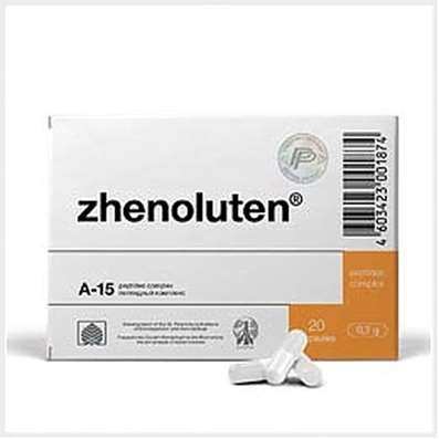 Zhenoluten 20 capsules bioregulator peptide drug for the treatment of ovarian dysfunction