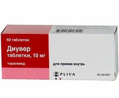 Diuver (Torasemide) 10mg 60 pills buy loop diuretic onilne
